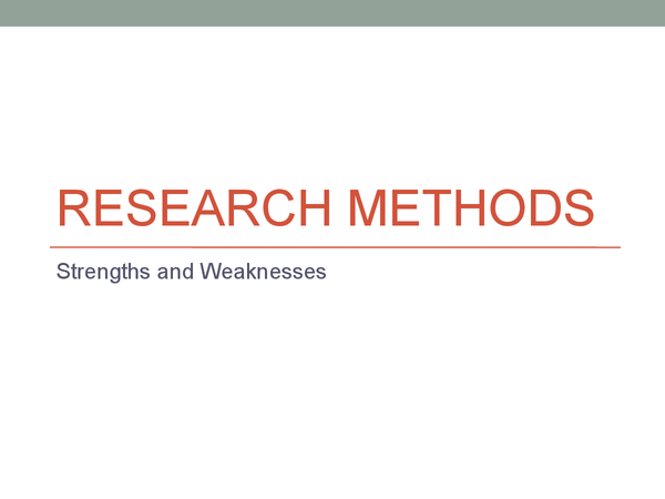 Preview of Sociology Unit 2 - Research Methods