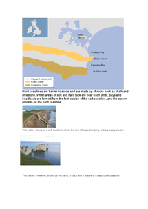 Preview of Soft and Hard Coastlines Geography GCSE