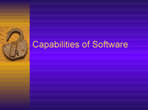 Preview of Software Capability