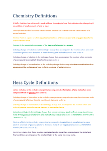 Preview of Some Key Definitions F325_OCR Chemistry