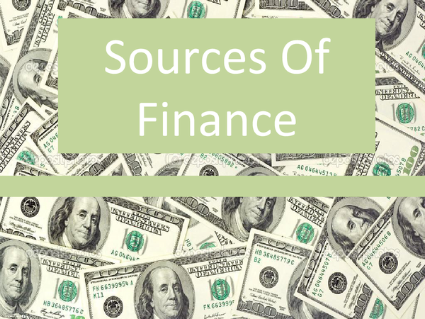 Preview of Sources of Finance