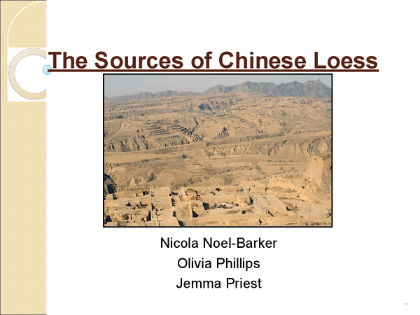 Preview of Sources of Loess