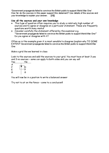 Preview of Sources Paper tips for longer mark questions