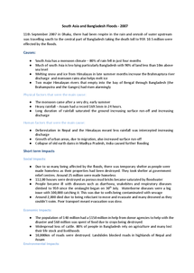 Preview of South Asia & Bangladesh Floods 2007 Case study