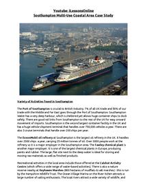 Preview of Southampton Multi-Use Coastal Area Case Study