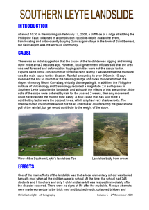 Preview of Southern Leyte 2006 landslide case study