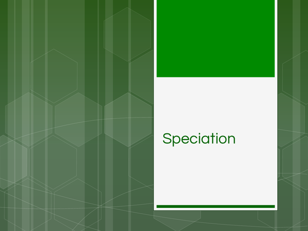 Preview of Speciation