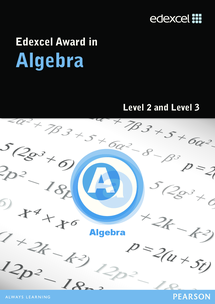 Preview of Specification for Algebra Award