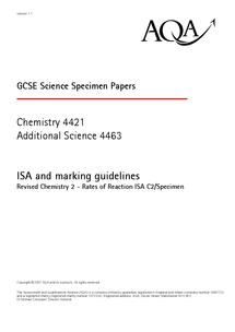 Preview of SPECIMAN ISA practice paper