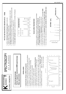 Preview of Spectrometry and Spectroscopy summary