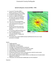 Preview of Spitak Earthquake Case Study
