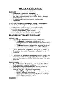 Preview of Spoken Language