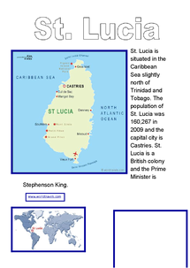 Preview of St. Lucia and tourism