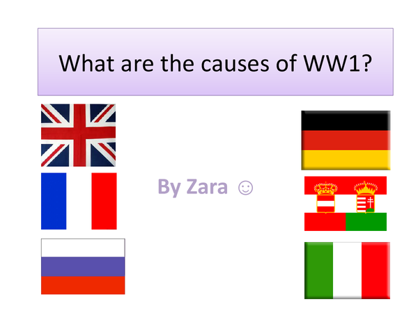 Preview of Standard Grade History - Causes of WW1