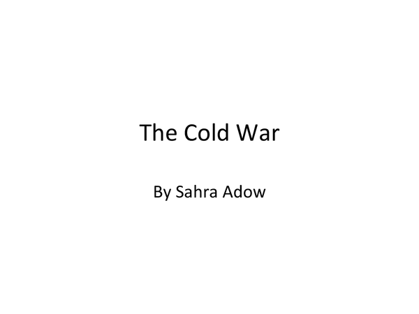 Preview of start of cold war