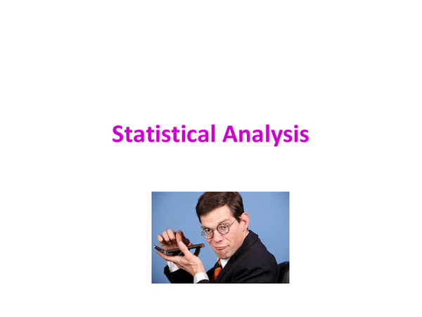 Preview of Statistical Analysis Powerpoint
