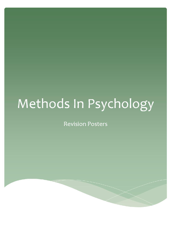 Preview of Statistical Inference, Methods In Psychology Revision PowerPoint