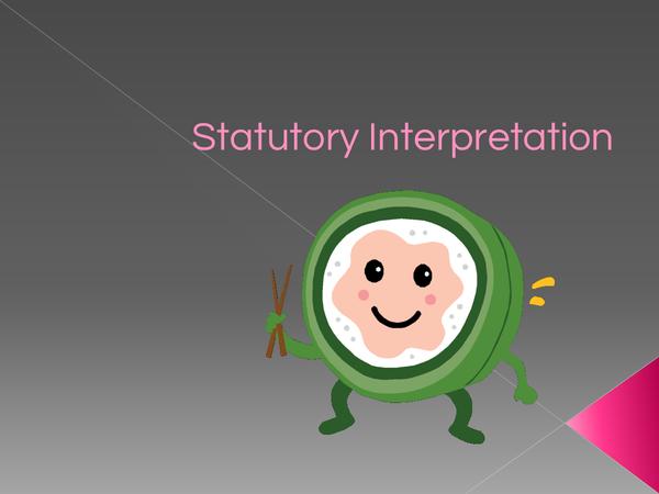 Preview of Statutory Interpretation