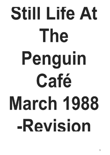 Preview of Still Life At The Penguin Cafe