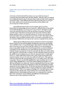 Preview of Strange Meeting Essay-Use of letters