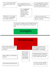 Preview of STRENGTHS AND WEAKNESSES OF THE COSMOLOGICAL ARGUMENT