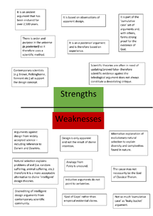 Preview of STRENGTHS AND WEAKNESSES OF THE TELEOLOGICAL ARGUMENT
