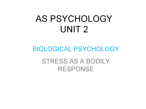 Preview of Stress as a Bodily Response