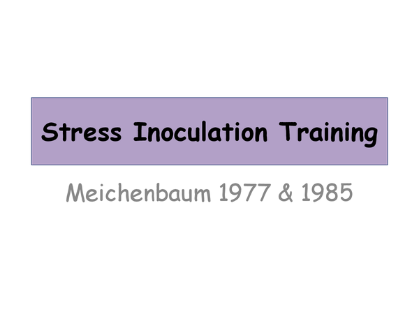 Preview of Stress inoculation training