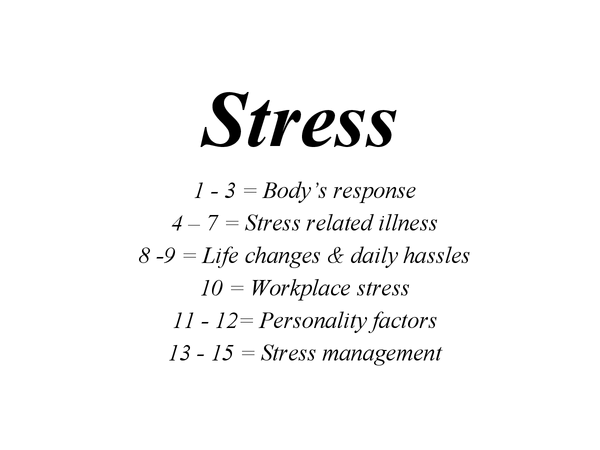Preview of Stress Powerpoint