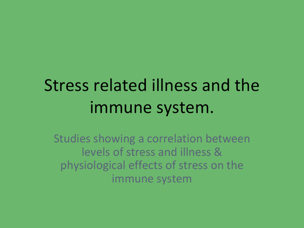 Preview of Stress related illnesses and the immune system