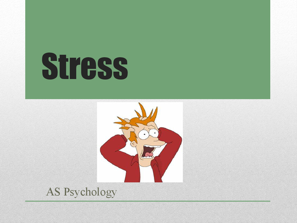 Preview of Stress *Whole Topic*