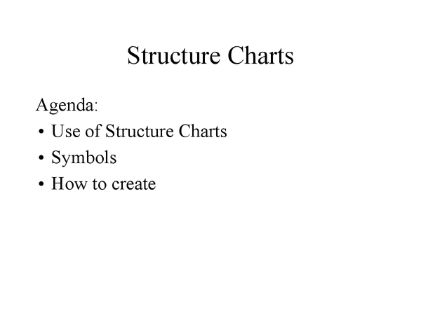 Preview of Structure Chart