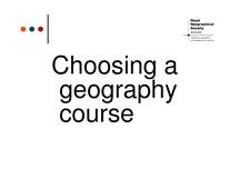 Preview of Studying Geography at University - Choosing a course