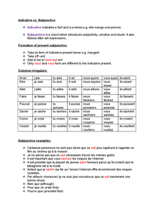 Preview of Subjunctive grammar revision AS French
