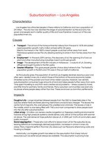 Preview of Suburbanisation - LA case study