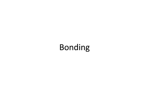 Preview of Summary notes for bonding