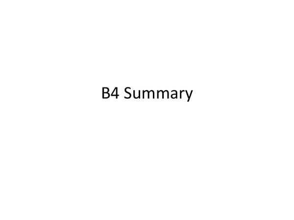 Preview of OCR Gateway Biology: B4 full summary