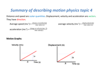 Preview of summary of describing motion