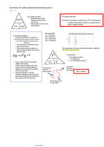 Preview of summary of salters advanced chemistry part 1 (ammended version)
