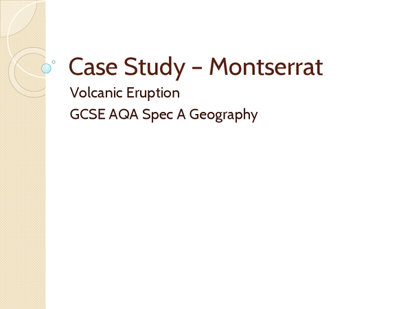 Preview of Summary of the Montserrat eruption-Case Study