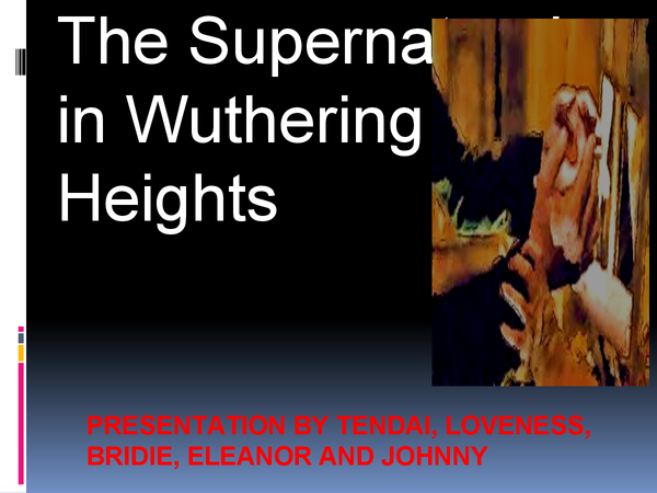 Preview of Supernatural in Wuthering Heights