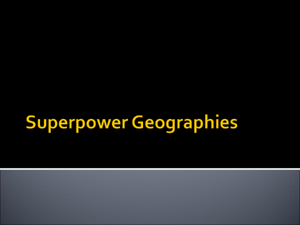 Preview of Superpower Geographies