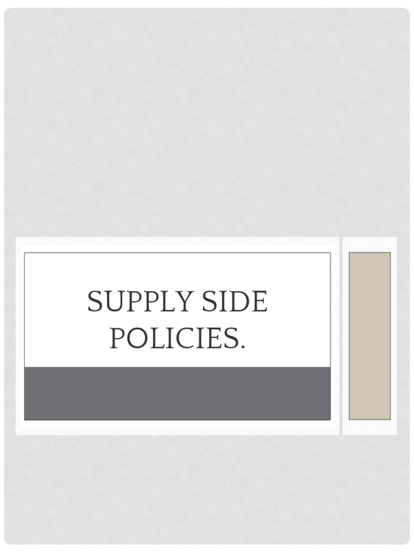 Preview of Supply Side Policies A2 Economics