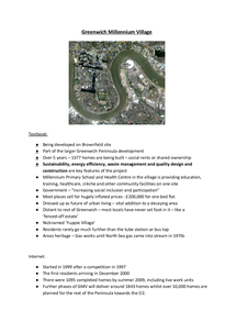 Preview of Sustainable Communities Case Study - Greenwich Millennium Village