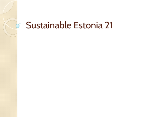 Preview of Sustainable Estonia 21 Extract 4&5