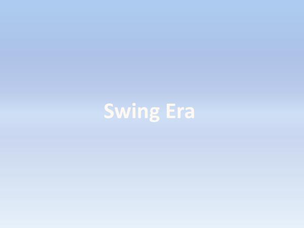 Preview of Swinging it for the Swing Era
