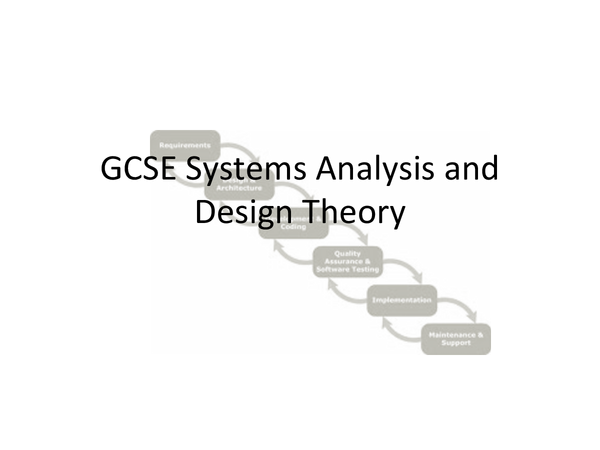 Preview of System Design Powerpoint