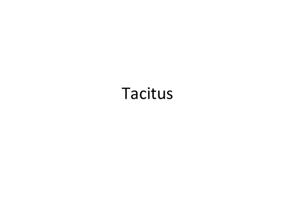Preview of Tacitus in powerpoint