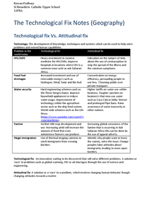 Preview of Technology Fix full revision notes