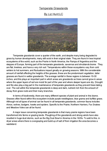 Preview of Temperate Grasslands Case Study